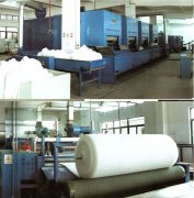 Thermal bonded polyester wadding produce machine